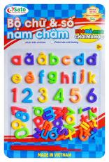 Bộ chữ tiếng việt chữ thường kèm số và phép tính thương hiệu sato đồ chơi an toàn việt