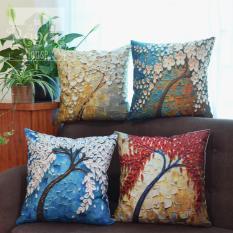 Gối tựa lưng văn phòng, gối sofa, gối trang trí họa tiết cây 3D – The Peace House