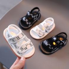 Sandal tập đi cho bé đế mềm chống trơn trượt có kèn kêu tít tít ( 812 )