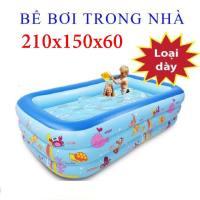 Bể bơi trẻ em, người lớn Bể bơi cao cấp kích thước 150x100x50 + Tặng kèm miếng vá và bơm Cao Cấp, Tặng phiếu bảo hành 1 năm Toàn quốc