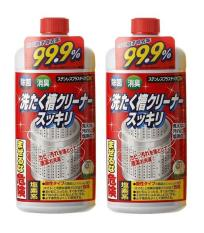 Bộ 2 chai Nước tẩy vệ sinh lồng máy giặt Rocket 99.9% hàng Nội địa Nhật Bản (550ml x 2)