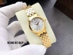 đồng hồ nữ dây vàng mặt trắng HLP01 chống nước chống xước