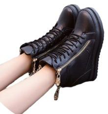Giày bốt thời trang nữ độn đế B042D