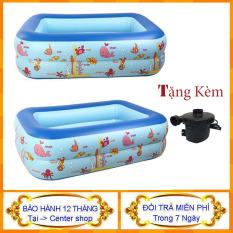 [ Mua 1 Tặng 1 ] Bể bơi 2 Tầng + Kèm bơm hơi – Bồn bơi cho bé – Bể bơi phao cho bé – Bể bơi mini – Bể bơi phao – Center shop
