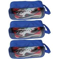 Bộ 3 túi đựng giày du lịch (Xanh dương)