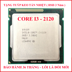 Bộ vi xử lý CPU CORE I3 2120 PC socket 1155 lắp main H61 Z68 B75 chạy RAM DDR3 1G 2G 4G 8G bus 1333/1600 Chip Sandy Bridge thế hệ 2 tốc độ chíp 3.3GHZ cấu tạo 2 lõi – 4 luồng Hàng chính hãng