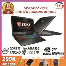 Laptop Giá Rẻ, Laptop Chơi Game Siêu Mượt MSI GP72 7REX, i7-7700HQ, Card Rời Nvidia GTX 1050Ti-4G, Màn 17.3 FullHD 120Hz, Laptop Gaming