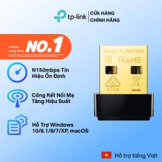 [cổng cắm mạ vàng✨]USB wifi TP-Link USB thu sóng wifi nano siêu nhỏ gọn Chuẩn N 150Mbps TL-WN725N – USB wifi chính hãng TPLink Bảo hành 2 năm 1 đổi 1 USB thu song wifi TP link
