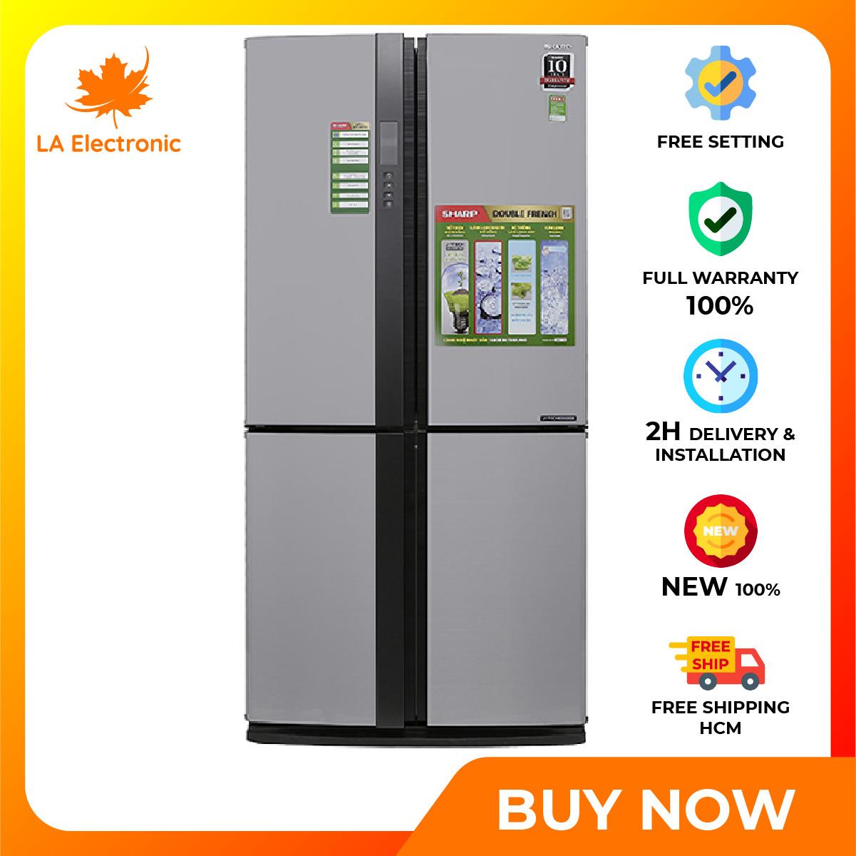 Trả Góp 0% – Tủ Lạnh – Sharp Inverter 626 liter refrigerator SJ-FX631V-SL Full VAT – Miễn phí vận chuyển HCM