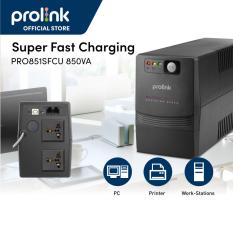 Bộ Nguồn Cấp Điện Liên Tục UPS PROLiNK 850VA (480W) Có Cổng USB, Tích Hợp Bộ AVR, Sạc Siêu Nhanh, Điện Áp Đầu Vào Rộng, Tương Thích Với Nhiều Loại Thiết Bị