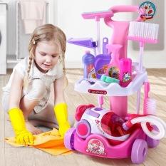 Đồ chơi little helper dọn dẹp vệ sinh nhà cửa, máy hút bụi dùng pin hoạt động như thật