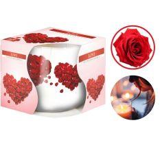 Ly nến thơm cao cấp Bispol Love 100g QT024784 – hoa hồng nhung, nến thơm phòng, thư giãn, khử mùi, không khói, hàng nhập khẩu Châu Âu
