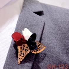 Ghim cài áo Vest nam thời trang cao cấp, cài sơ mi hình bó hoa GH-133 {Ghim cài áo Vest nam – AdamZone}