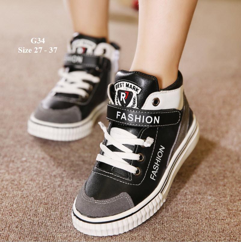 Giày Sneaker Trẻ Em Kiểu Dáng Thể Thao Cá Tính G34