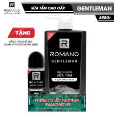 [Tặng Lăn khử mùi Romano Gentleman 40ml] Sữa tắm Romano Gentleman 650g