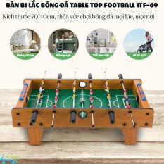 Đồ chơi bàn bi lắc bóng đá cỡ lớn Table Top Football TTF-69 kích thước 70*40cm bằng gỗ