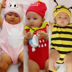 Combo 3 bộ Bodysuit hình thú cho bé ( khách chọn bé trai hoặc gái, shop giao mẫu ngẫu nhiên) – Mihababy – BDS_CB_SHOCK (quần áo trẻ em – đồ trẻ sơ sinh – đồ cho bé – cho trẻ – cho bé – áo liền quần)