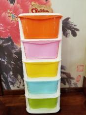 Tủ nhựa ngăn kéo 5 tầng sắc màu