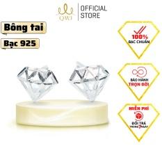 QMJ Hoa tai Nụ Kim cương 3D bạc 925 cao cấp lung linh, dành cho bạn nữ thích bộ trang sức cổ trang và khuyên tai kim cương và phong cách phụ kiện thời trang, thiết kế đơn giản, duyên dáng, công sở – QKL0581