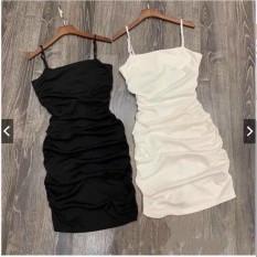 Đầm Hai Dây Nhún Body Pc