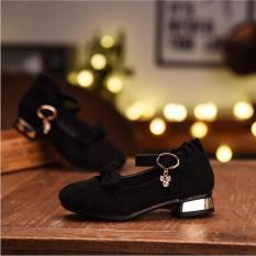 giày cao gót da lộn cho bé gái