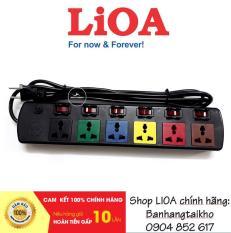 Ổ cắm điện LIOA, 6 lỗ 6 công tắc, ~2000W, dây dài 3m, mã:6DOF32N