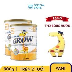 [GIẢM 40K ĐƠN 499K]Bộ 2 lon sữa bột Abbott Grow 4 900g Tặng Thú bông hươu – Giới hạn 10 sản phẩm/khách hàng