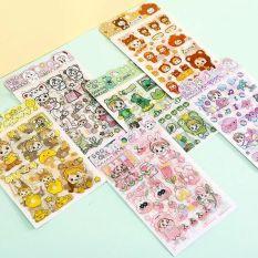 Combo 4 Miếng Dán Trang Trí Sticker Trang Trí Sticker Dán Giấy Đồ Dùng Phong Cách Hàn Quốc Dễ Thương