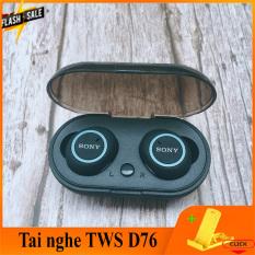 Tai nghe + bluetooth khong day 5.0 – D76 TWS -Tự động kết nối-Pin 3-4h-Âm thanh to bass siêu trầm-Chống ồn cực tốt-Kiểu dáng thể thao kèm cốc sạc nhanh- Bảo hành 1 đỏi 1 -Có quà tặng