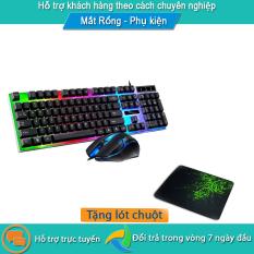 [Tặng lót chuột w3] Combo chuột và bàn phím chuyên game giá rẻ G21B/T11 (chọn màu khi đặt hàng)