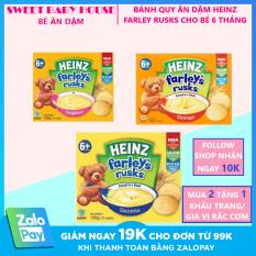 [HCM]Bánh quy ăn dặm Heinz Farleys Rusks vị chuối cho bé 6m+ (120g). Date 2/2022 – Sweet Baby House