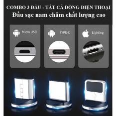 [Nhập ELJAN11 giảm 10%, tối đa 200k, đơn từ 99k]Đầu sạc nam châm Iphone Type C Micro USB Không có dây Tương thích tốt Tốc độ ổn định