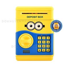 Két sắt mini thông minh cho bé dùng pin có mật mã hút tiền tự động 9983 – Đồ khuyến mãi giá tốt