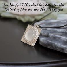 Mặt dây chuyền nam THIÊN NGUYỆT TỨ PHÚC (bạc) – Phong Thủy Tam Nguyên