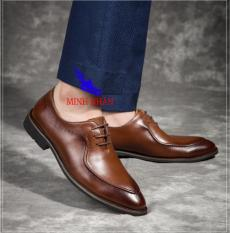 Giày Tây Nam Công sở Cao Cấp Da Bò Tấm Phong cách Ý GB-12 ( nâu)