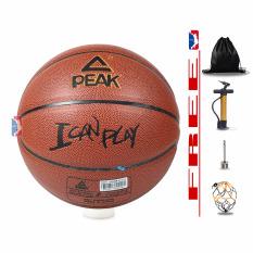Banh bóng rổ da Peak – I Can Play – Size 7 – Tặng Bơm + Balo rút + Kim Bơm + Túi lưới