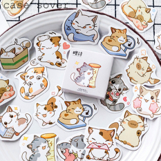Hộp 45 Sticker Chủ Đề Boss Mèo Làm Nũng Trang Trí Planner – Case Sover
