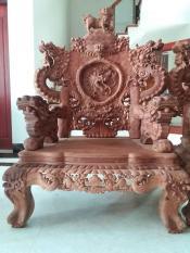 bộ bàn ghế rổng đỉnh gỗ hương việt bộ 8 món