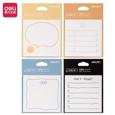 Giấy nhớ giấy nhắn hình ngộ nghĩnh Deli – giấy note ghi chú – 1 tệp màu ngẫu nhiên – 21540