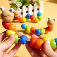 Sâu gỗ đồ chơi cho bé – chất liệu gỗ tự nhiên cao cấp, giúp phát triển kỹ năng nhìn, nghe và đôi tay khéo léo