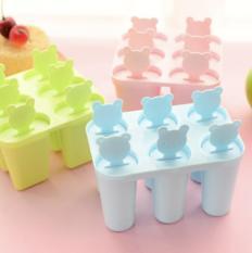 Bộ khuôn làm kem 6 que tiện dụng ( Giao màu ngẫu nhiên )