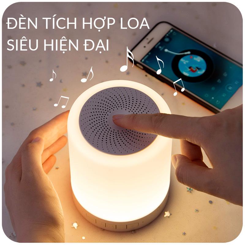 Loa Bluetooth Tích Hợp Đèn LED Cực Đẹp – Loa Bluetooth Đổi Màu Kiêm Đèn Ngủ, Âm Thanh Vòm, Bass Siêu Trầm