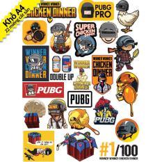 Bộ Hình Dán Sticker Game PUBG Player Unknown Battleground – Tem Dán Xe Máy, Hình Dán Mũ Bảo Hiểm, Hình Dán Laptop, Hình Dán Điện Thoại