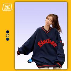 Áo Sweater Nữ Infinity Outfit Dáng Unisex Form Rộng Cổ Lọ Tròn Oversized Kiểu In Chữ BLACK AIR – Áo Sweatshirts Big Size 80kg 90kg 100kg Urban Chất 100% Cotton Nỉ Cao Cấp Chính Hãng UO Rẻ Đẹp Nhiều Màu SWO10