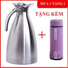 Bình ủ trà, cafe 2 lít tặng kèm bình giữ nhiệt 6oup