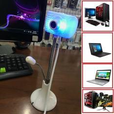 Webcam chân cao có mic FULL HD có đèn led – kết nối cổng usb cho máy tính và laptop 2.0