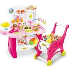Bộ đồ chơi Combo 2 món Siêu thị kẹo kem kèm xe đẩy siêu thị