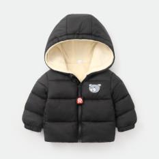 Áo khoác lót lông siêu ấm in hình gấu cho bé