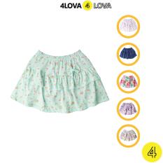 Chân váy hoa 4LOVA hai lớp đính nơ cho bé gái – BG-CVH