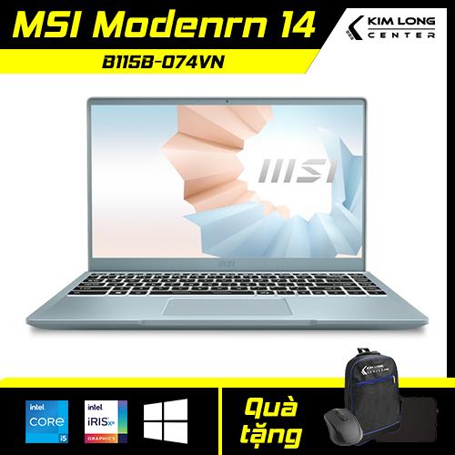 [SALE 1 TRIỆU] Laptop MSI Modern 14 B11SB-074VN : i5-1135G7 | 8GB RAM | 512GB SSD | Iris Xe Graphics + MX450 2GB | 14 FHD | Win 10
